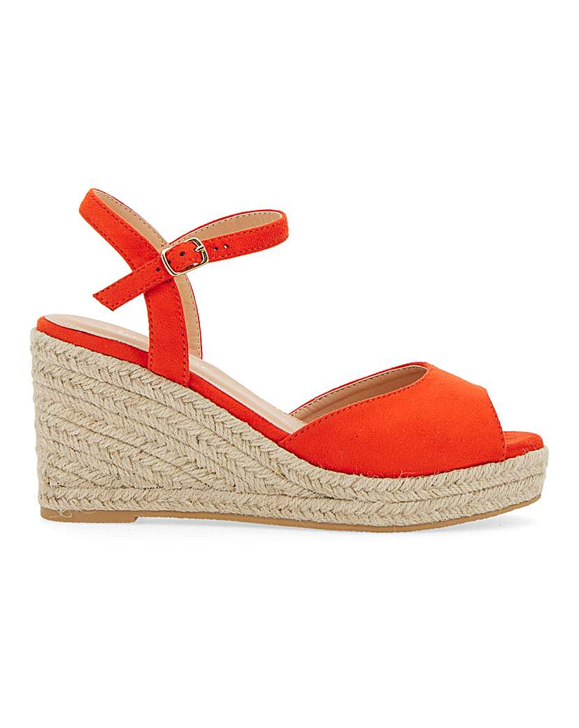 Simply Be Dree Espadrille Wedge Extra Wide Fit