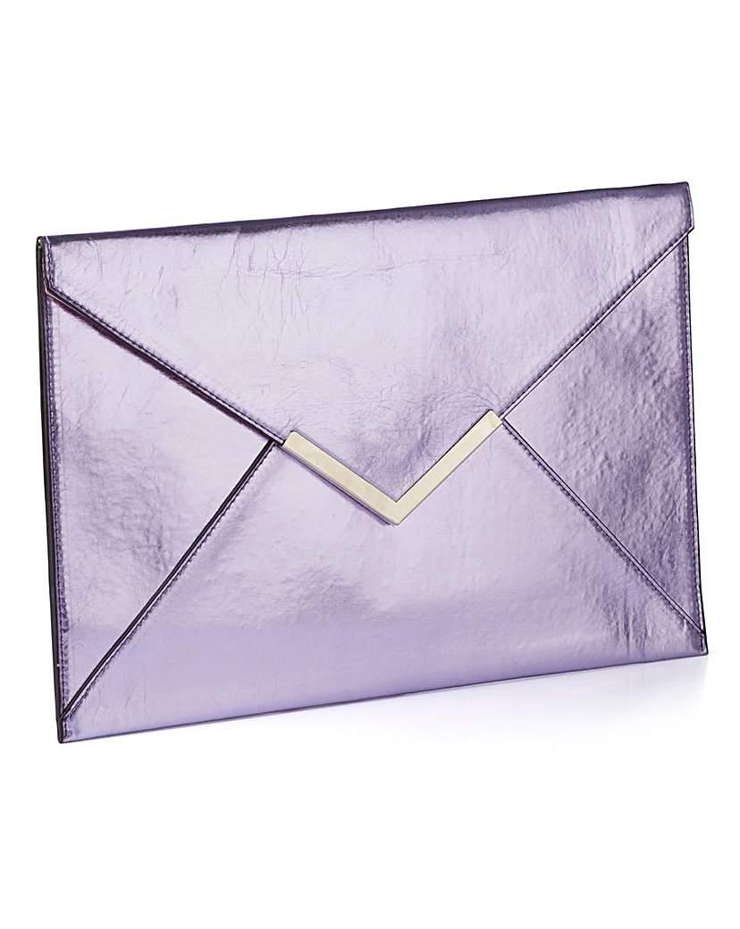 Simply Be Metallic Envelope Clutch Bag
