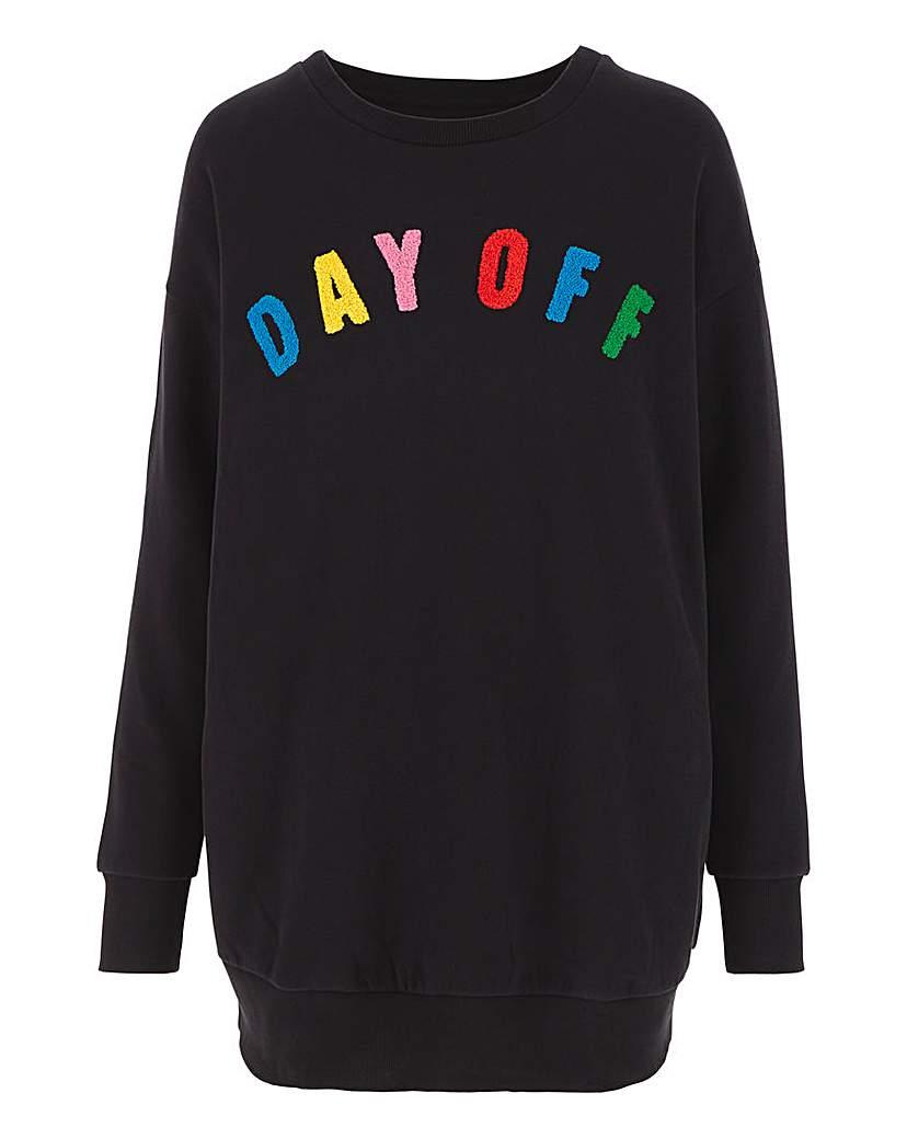 Capsule Leisure Black Applique Sweatshirt