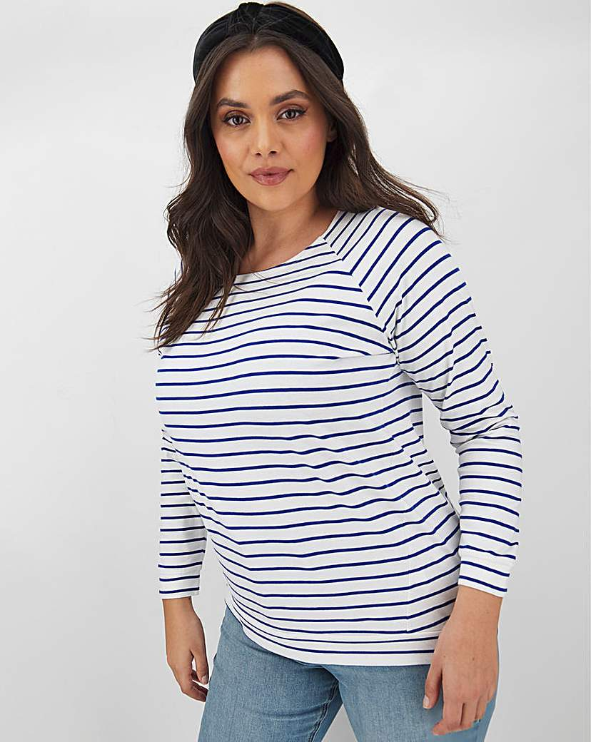 Capsule Leisure Stripe Raglan Sweatshirt