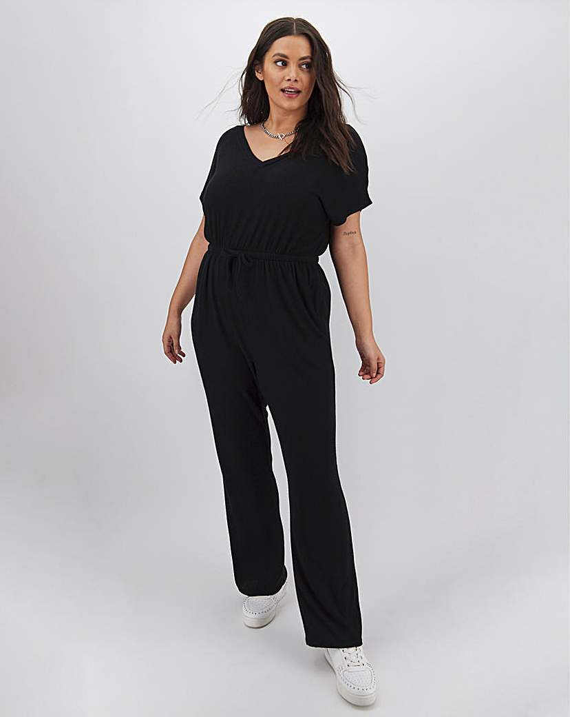 Simply Be Black Soft Touch Jumpsuit