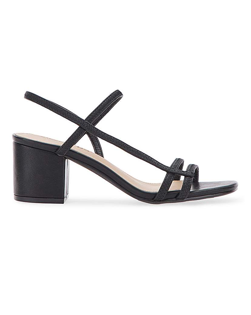 Simply Be Nora Heeled Sandals Extra Wide Fit