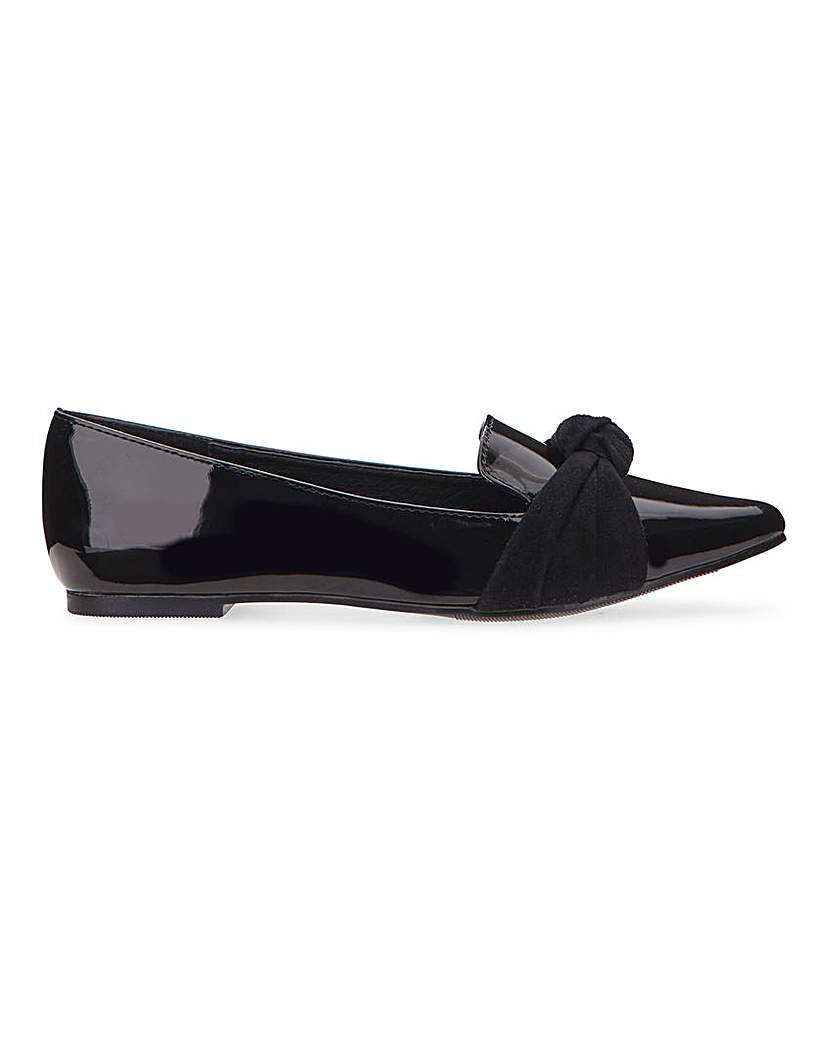 Simply Be Bia Pointed Toe Ballerina Extra Wide Fit
