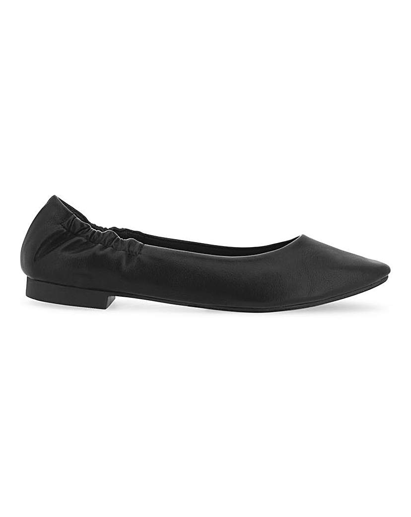 Simply Be Ceto Square Toe Shoes Extra Wide Fit