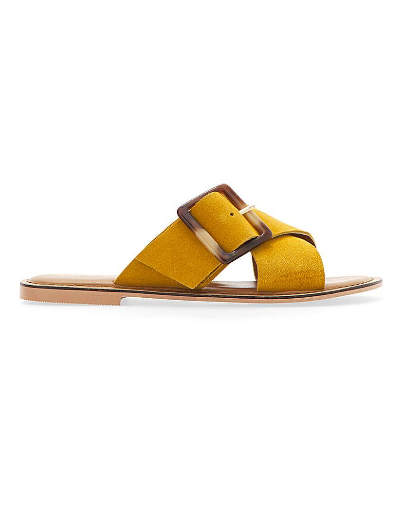 Simply Be Joyce Leather Sandals Extra Wide Fit