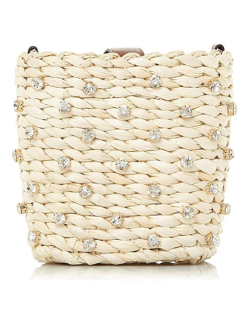 Dune Dune Dinky Jewelled Basket Crossbody Bag