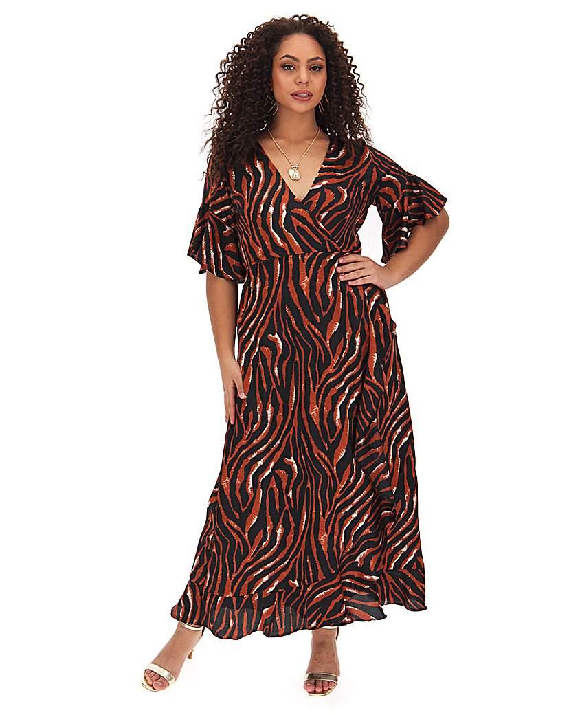 AX Paris Ax Paris Tiger Print Wrap Dress