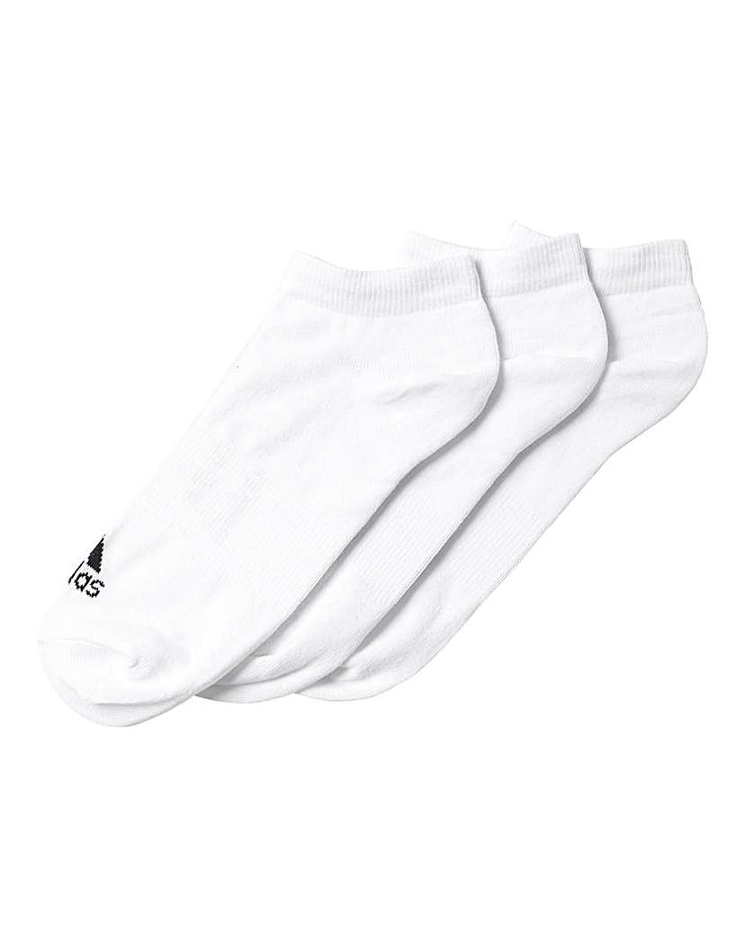 adidas 3 Pack White Socks