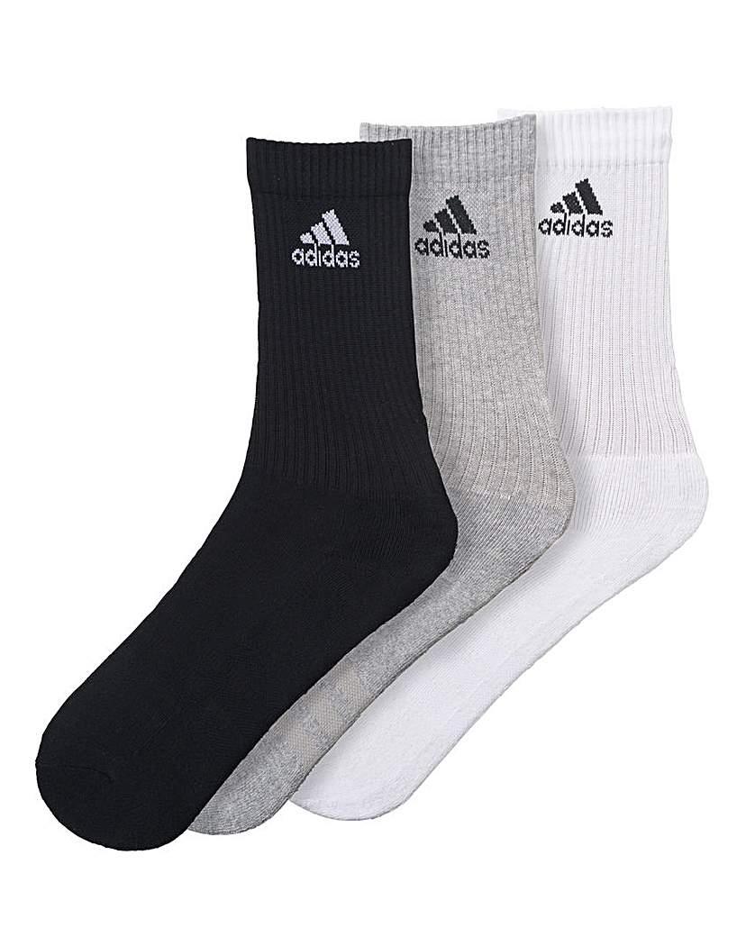 adidas 3 Pack Peformance Crew Socks