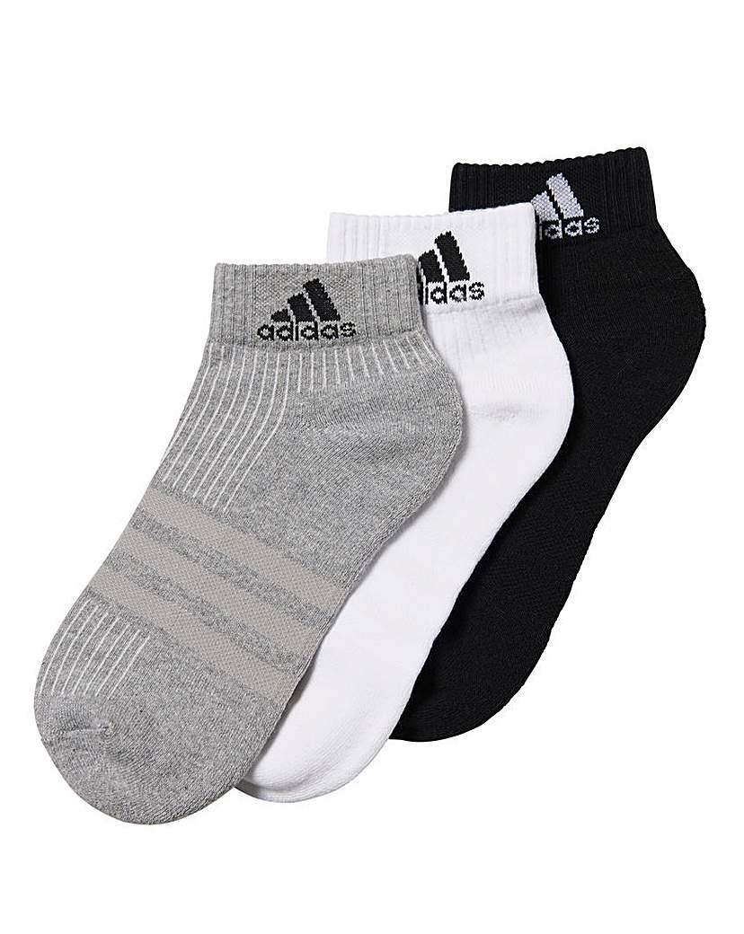 adidas 3 Pack Performance Ankle Socks