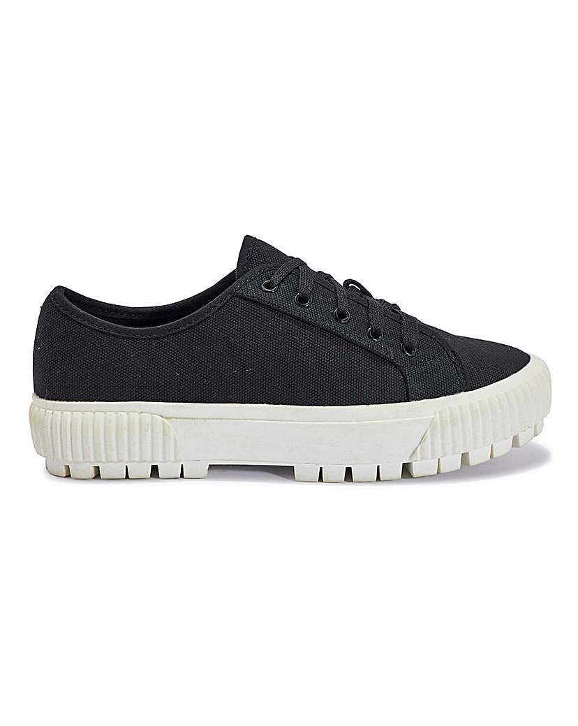 Simply Be Nola Canvas Trainers Standard Fit