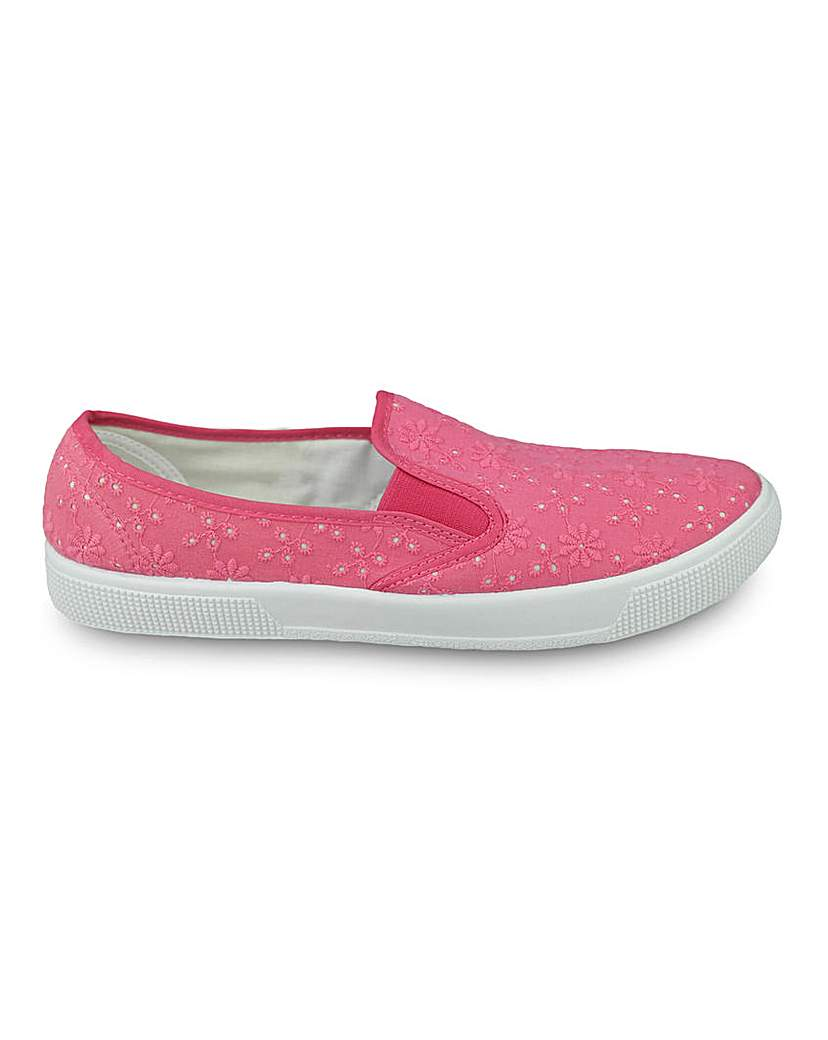 Simply Be Ramona Slip On Shoes Standard Fit