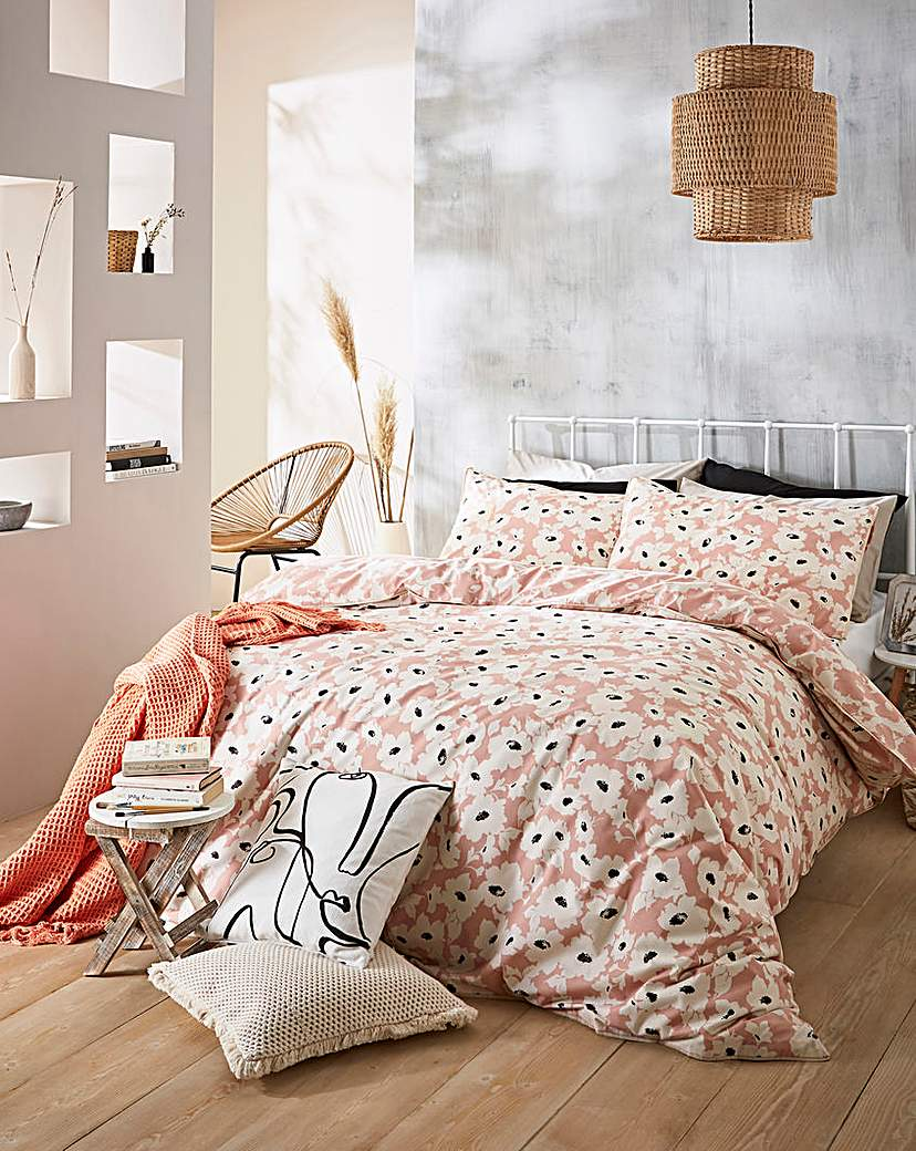 Simply Be Elin Piped Reversible Duvet Cover Set