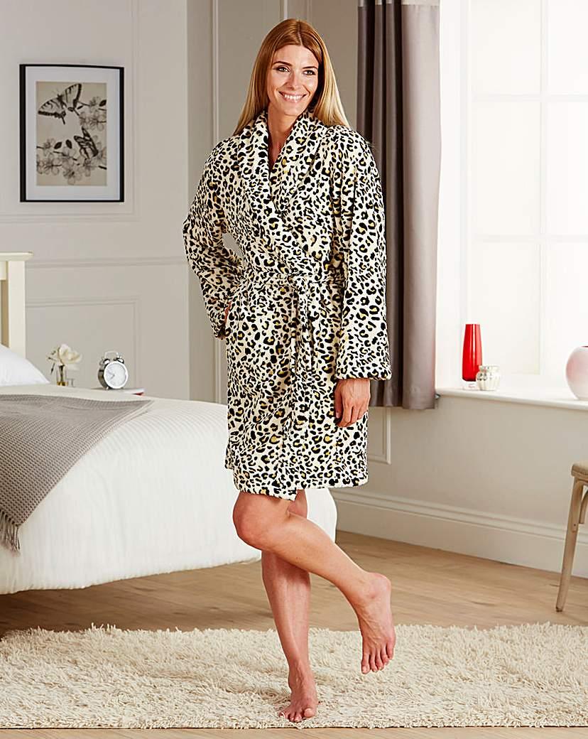 Leopard Print Robe