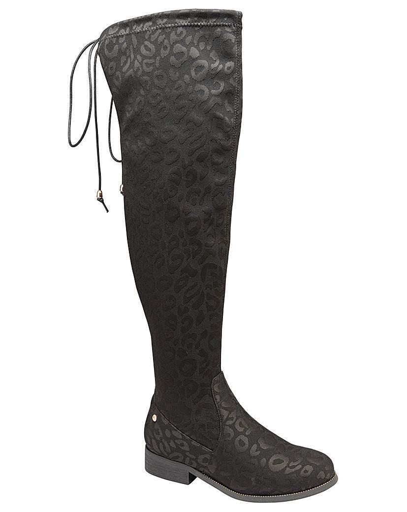 Ravel Hartford Black Leopard Print Boots