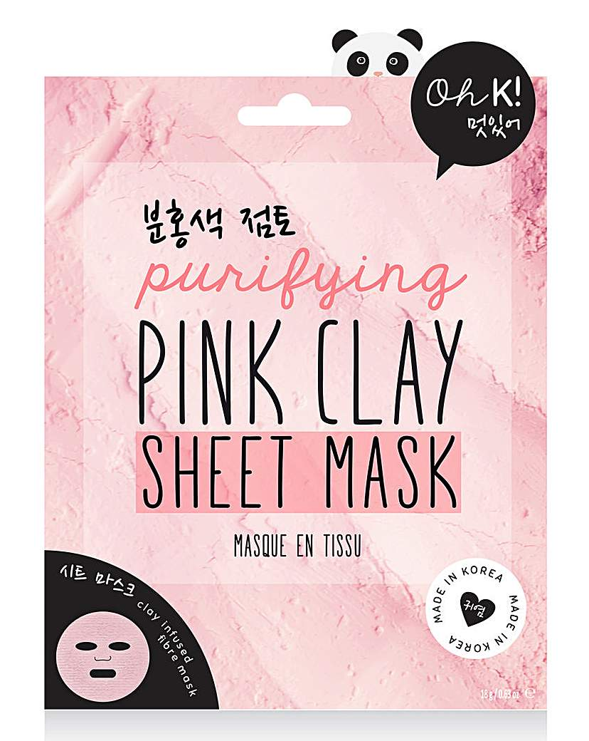 Oh K! Oh K! Pink Clay Sheet Mask