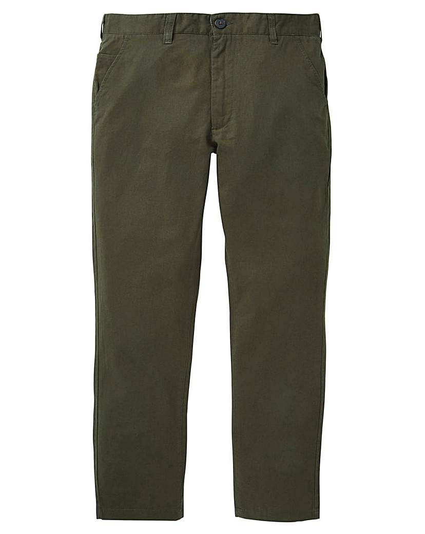 Image of Black Label Linen Mix Smart Slim Trouser