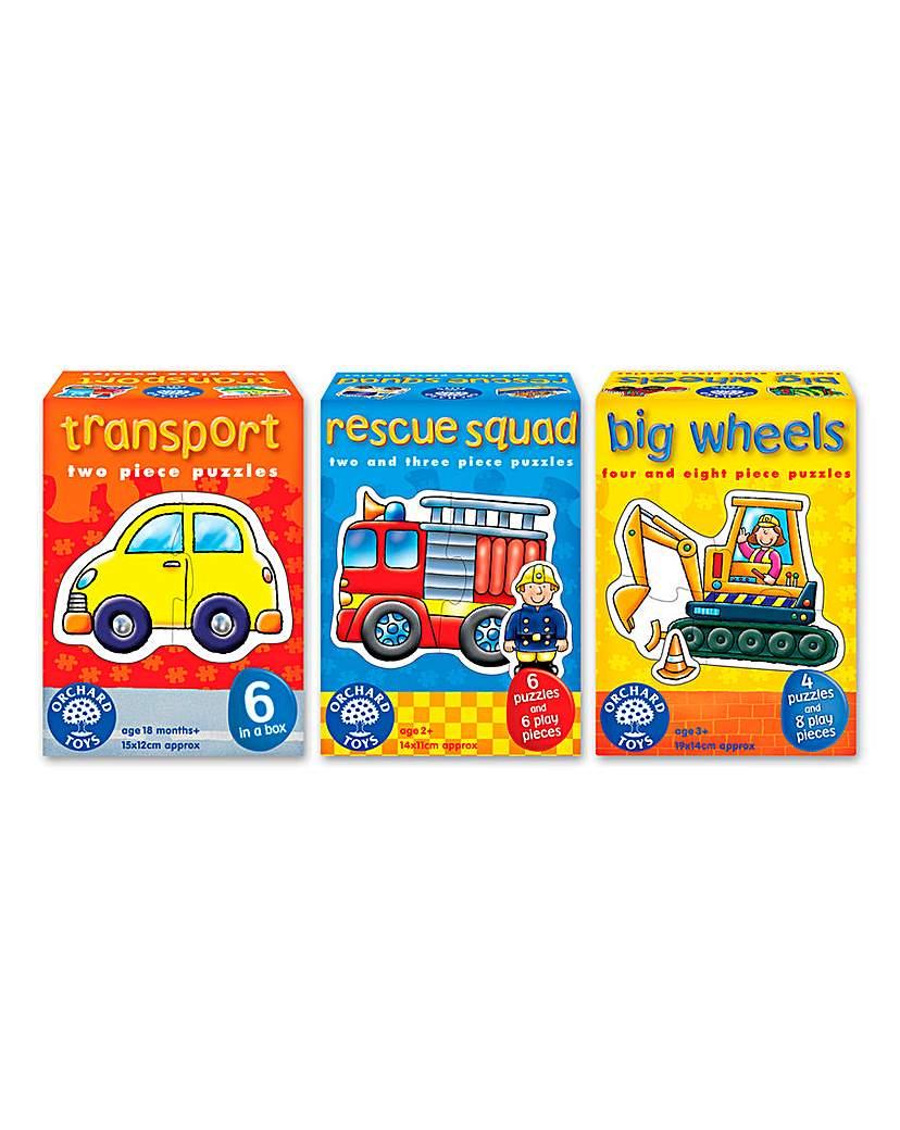 Image of Pack of 3 Motoring Mayhem Puzzles