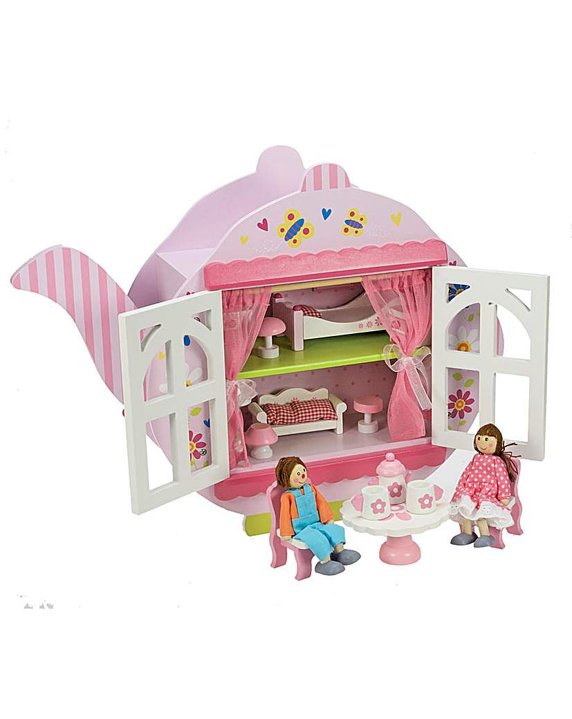 Wooden Tea Dolls House With Dolls