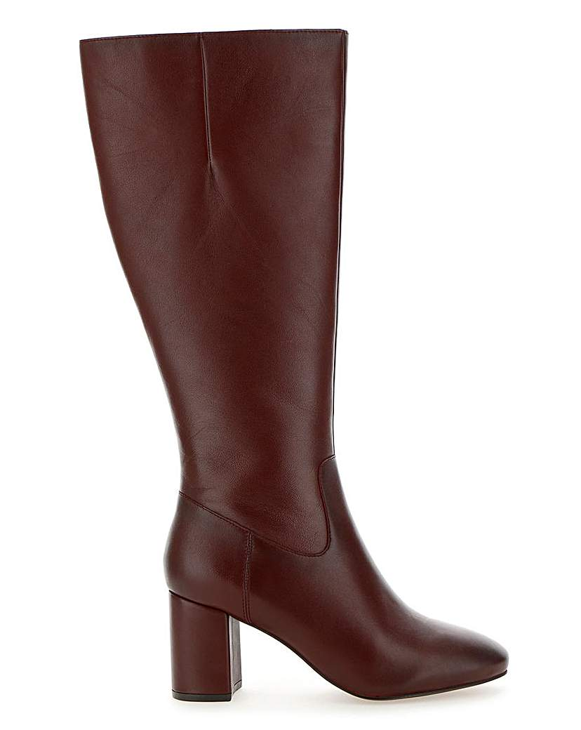 JD Williams Leather Boots EEE Fit Extra Curvy Plus