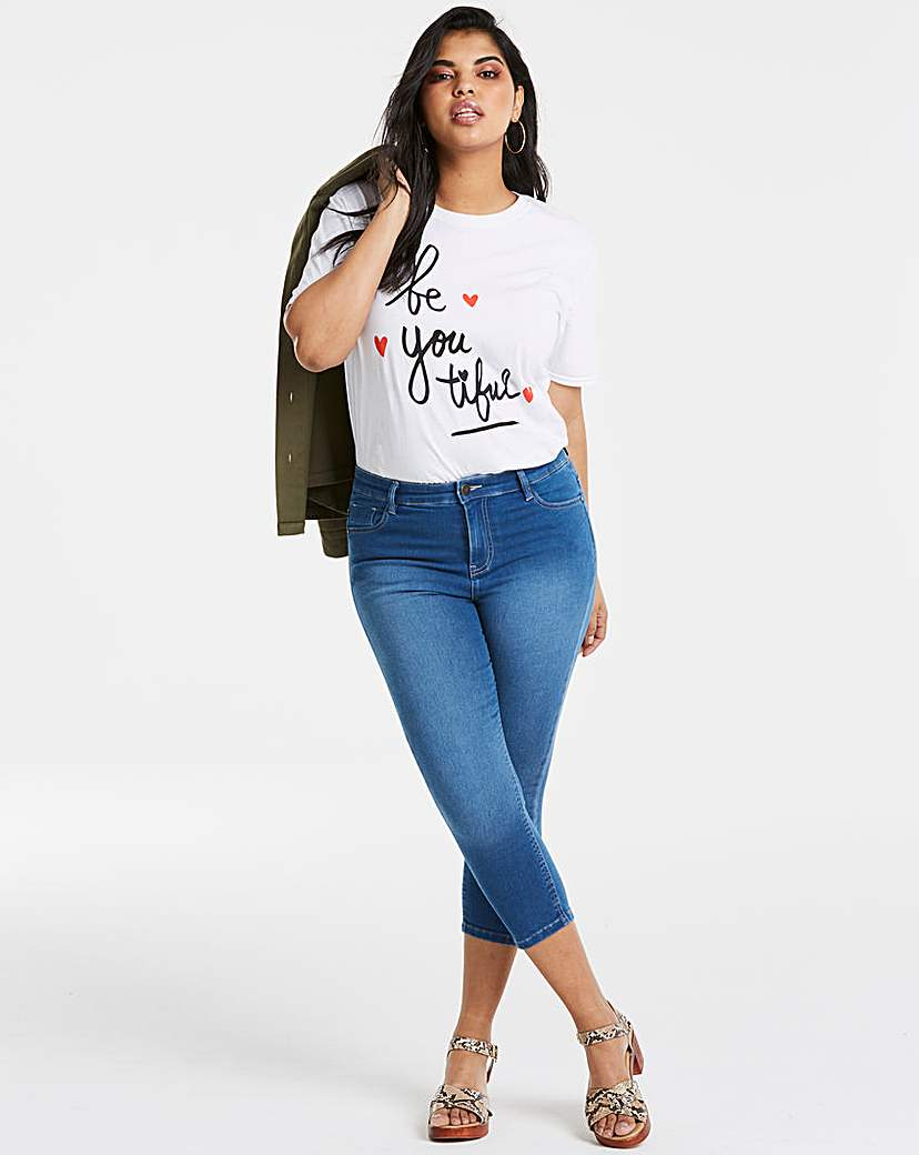Blue Lucy High Waist Crop Jeans