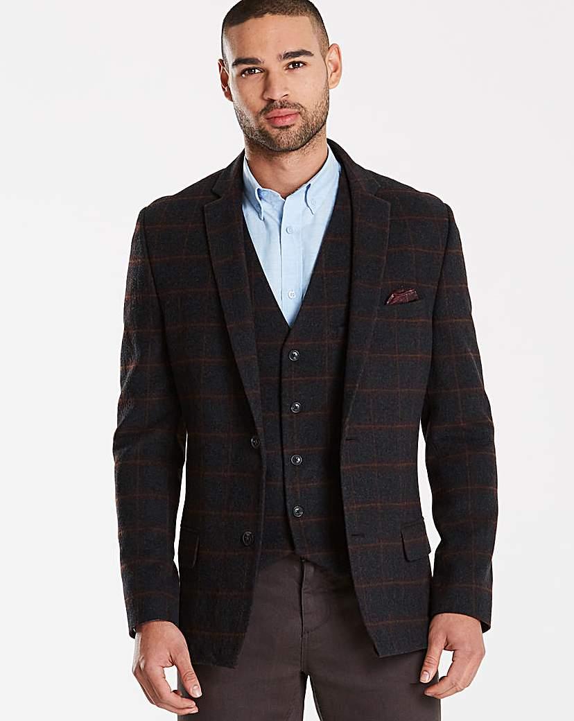 black label checked wool blazer regular octer. Black Bedroom Furniture Sets. Home Design Ideas