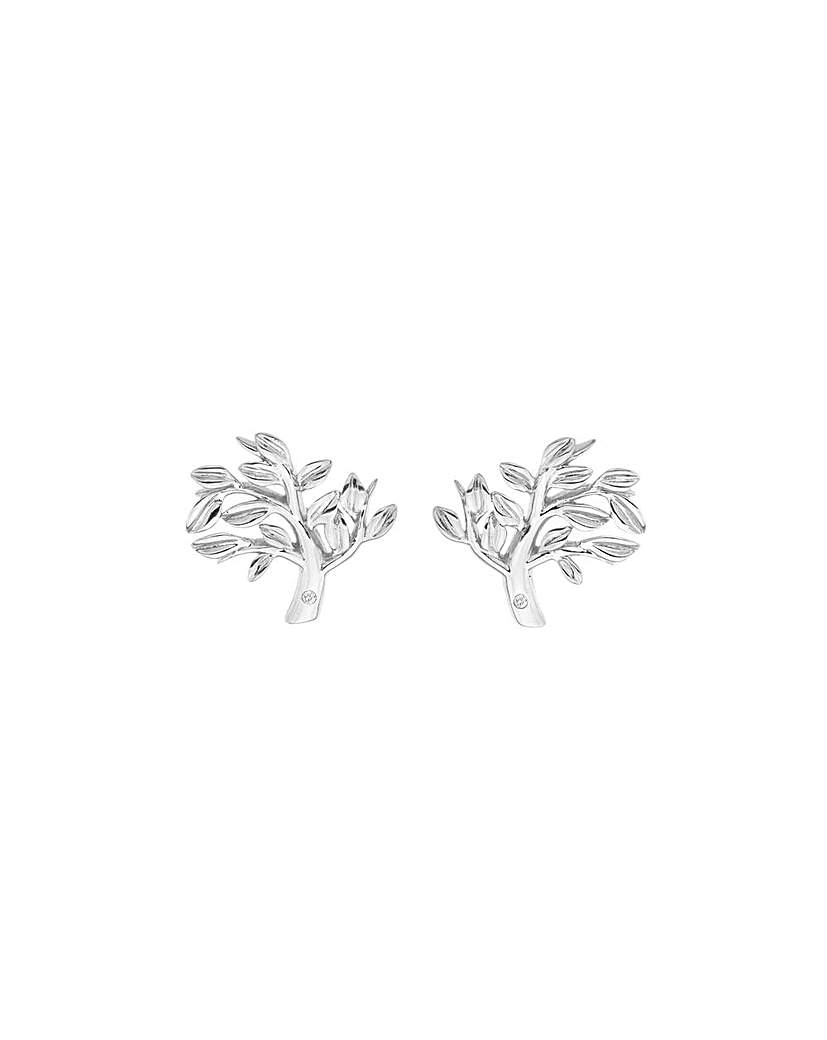 Image of  			   			  			   			  Hot Diamonds Passionate Tree Earrings