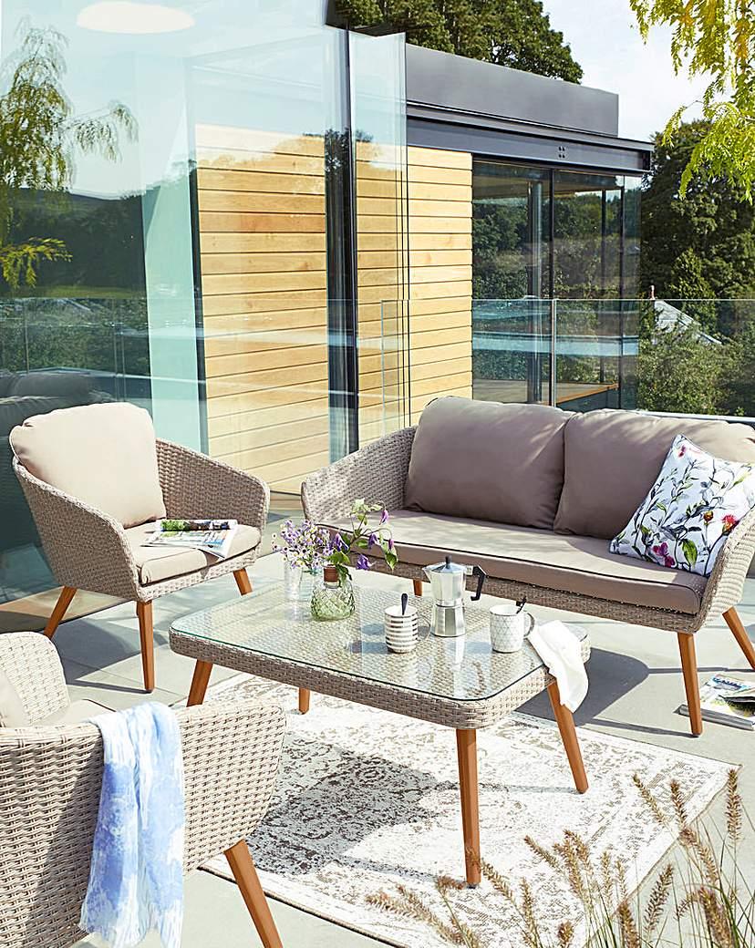 Image of Milano Rattan 4 Piece Lounge Set