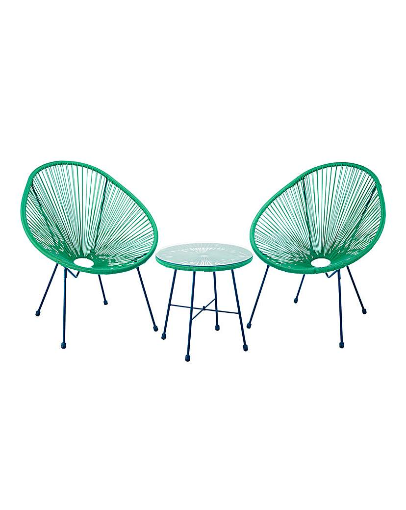 Image of Salsa Bistro Set Forest Green