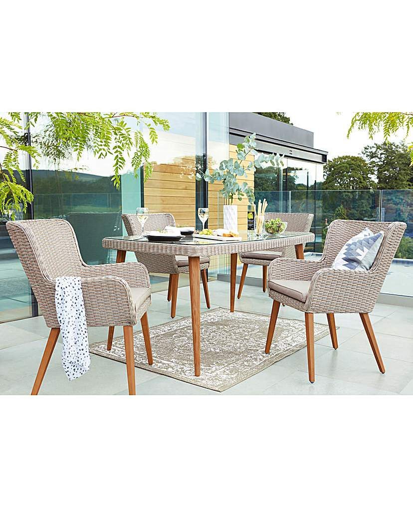 Image of Milano Rattan 4 Seat Dining Set