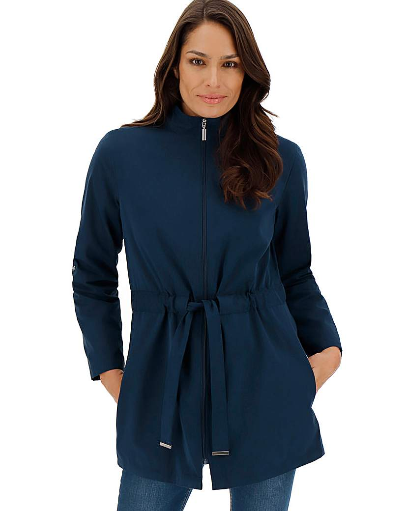 Navy Soft Touch Microfibre Jacket