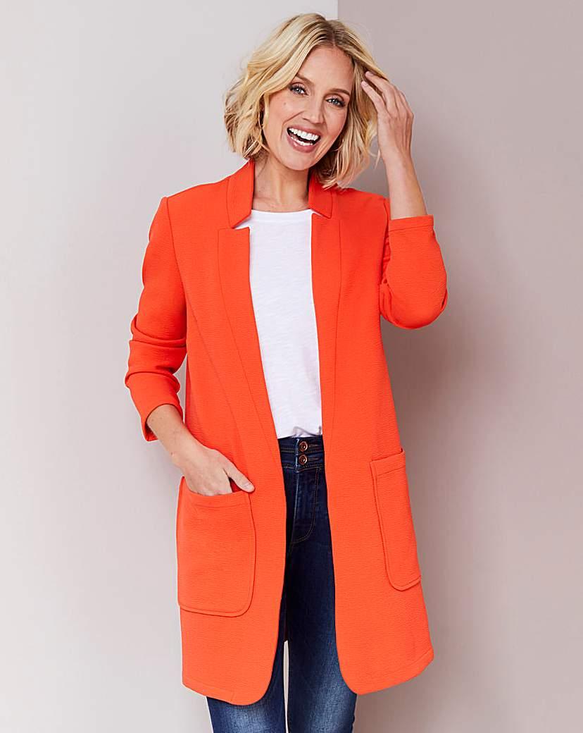 Simply Be Deep Orange Crepe Jacket