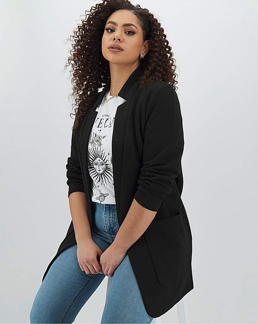Simply Be Black Crepe Jacket