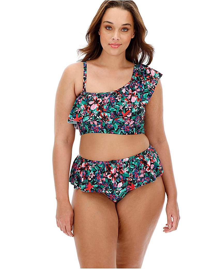 Simply Be One Shoulder Frill Bikini Set
