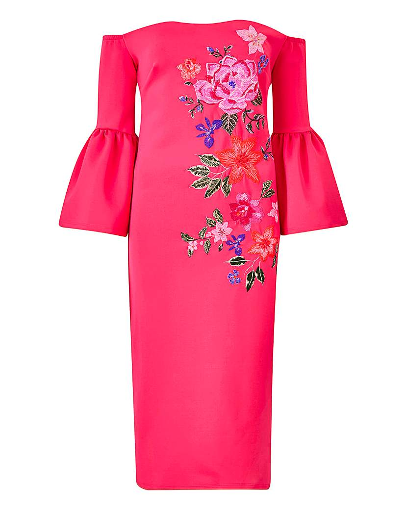 Petite Placement Embroidered Dress