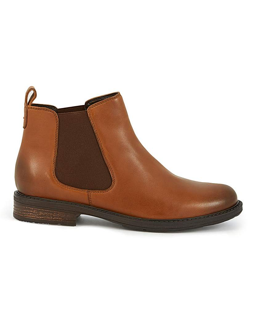 JD Williams Leather Pull On Chelsea Boots EEE Fit