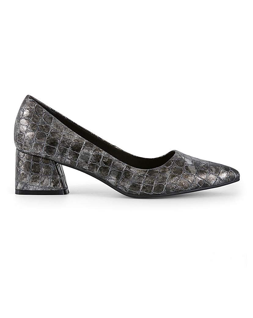 JDW Pointed Toe Court Shoes EEE Fit