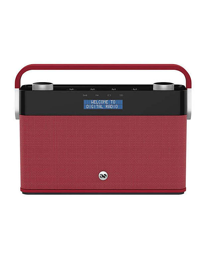 Image of Acoustic Solutions DAB Radio - Red