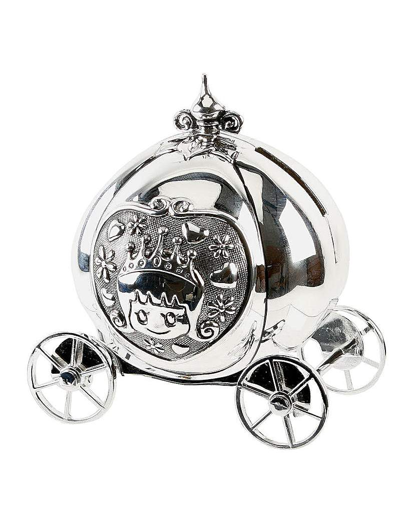 Image of Bambino Silver Plated Coach Money Box