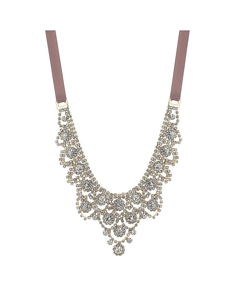 Image of Jon Richard Ornate Ribbon Necklace