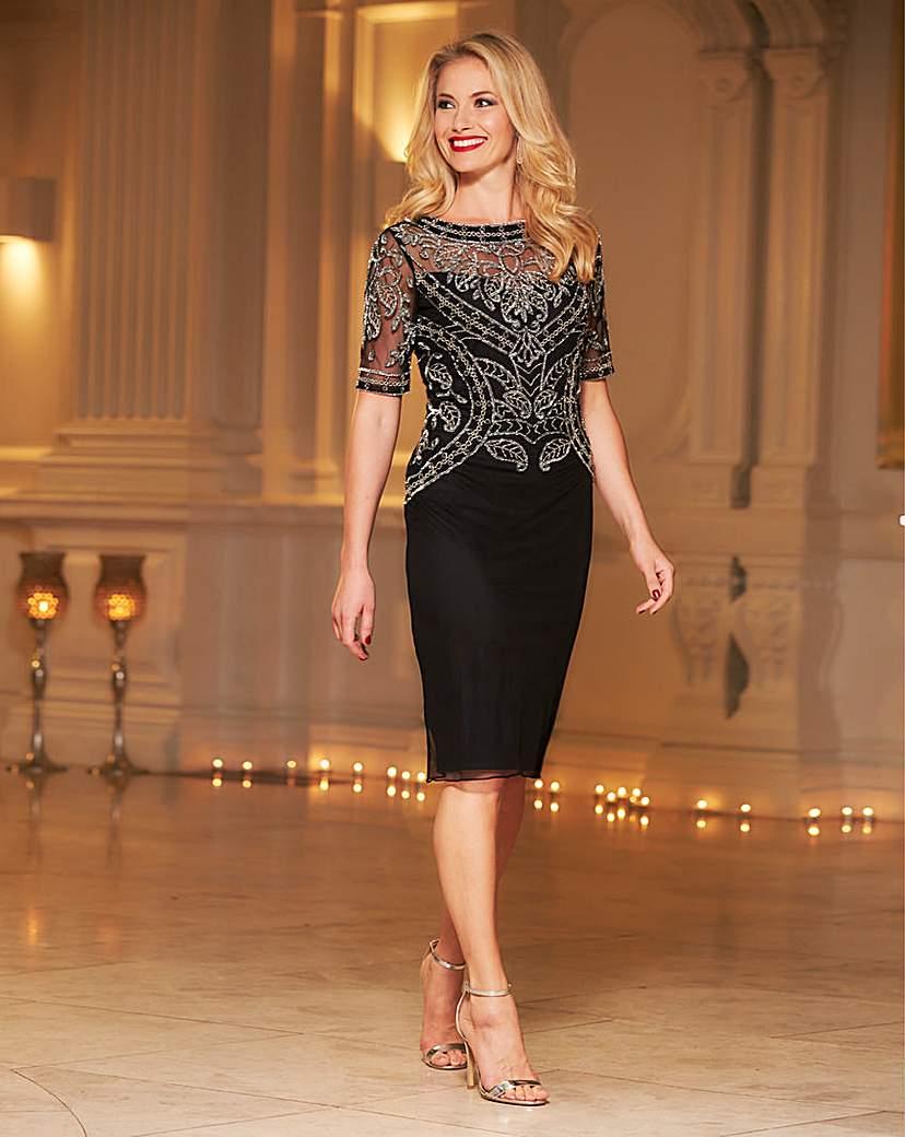1960s Style Formal Dresses Joanna Hope Embellished Dress £120.00 AT vintagedancer.com