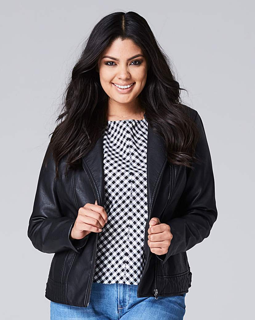 Simply Be Faux Leather Biker Jacket