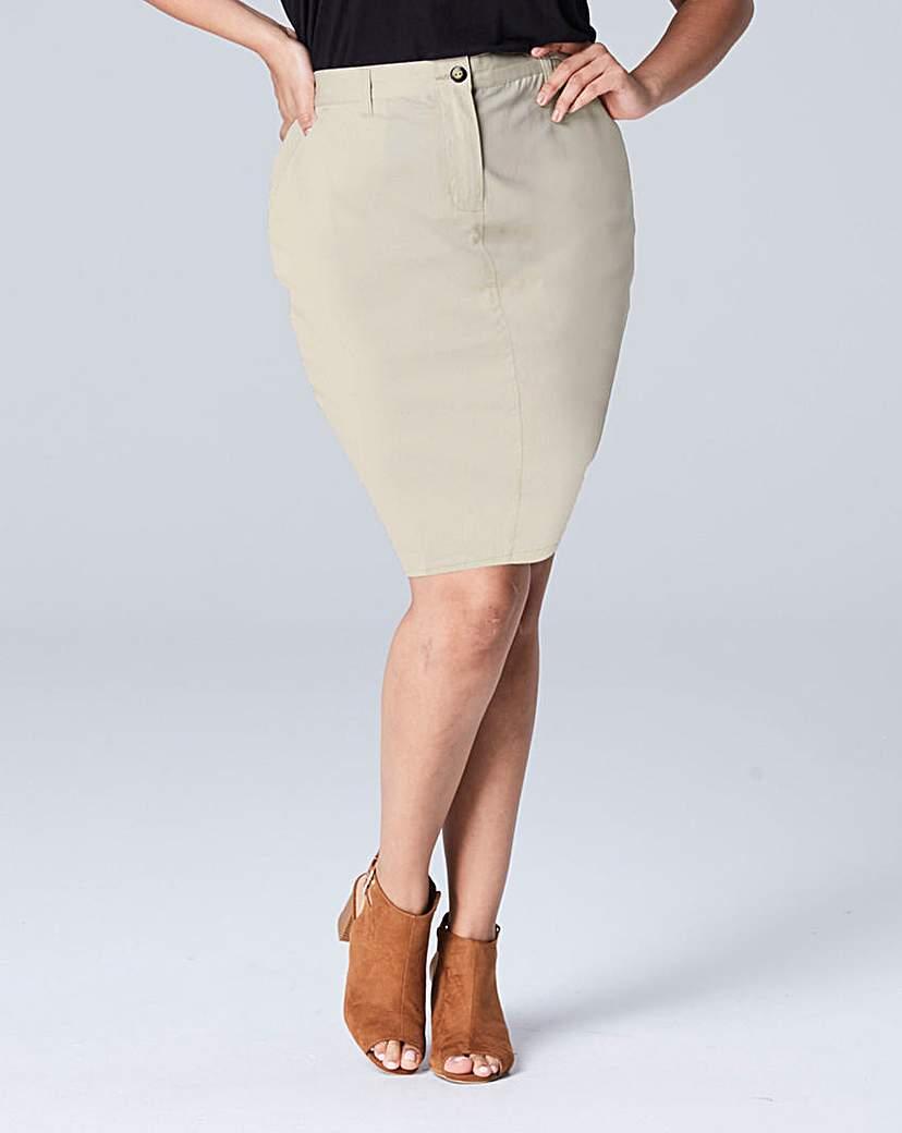 Simply Be Chino Skirt