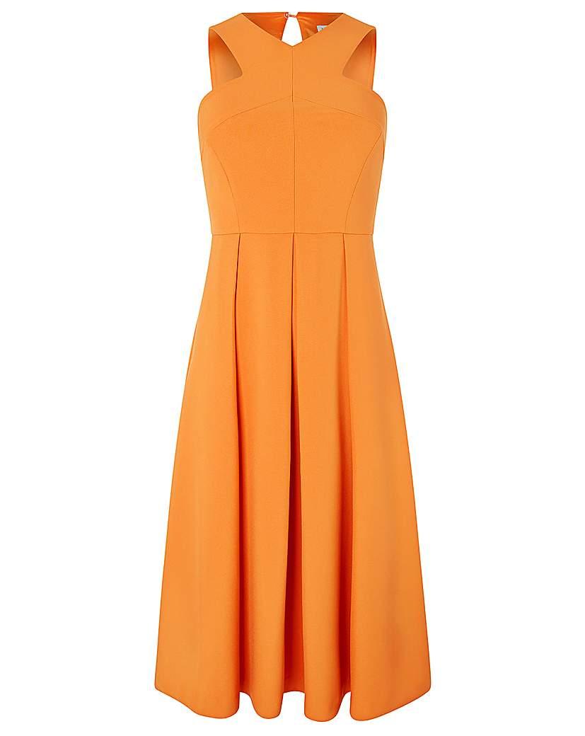 Monsoon Patricia Plain Midi Dress
