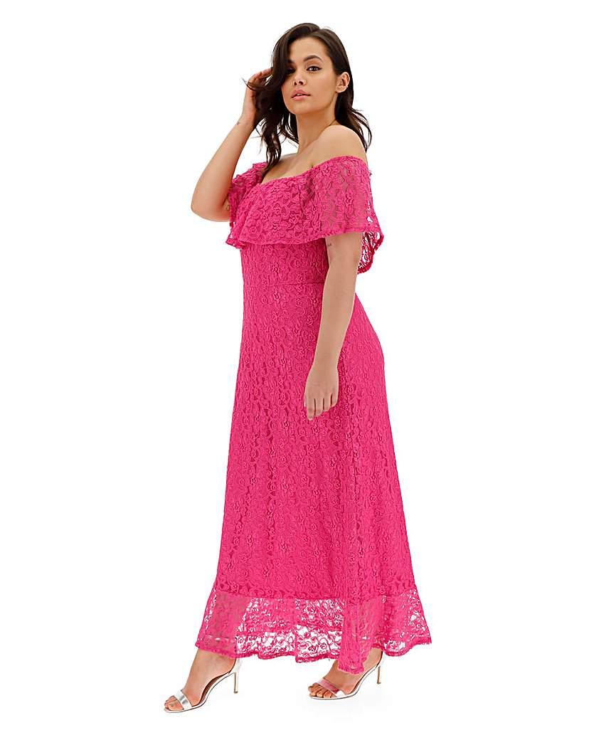 Joanna Hope Joanna Hope Lace Bardot Maxi Dress