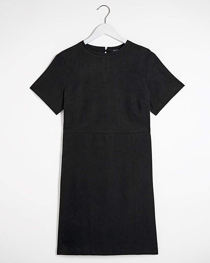 Capsule Black Textured Pocket Shift Dress