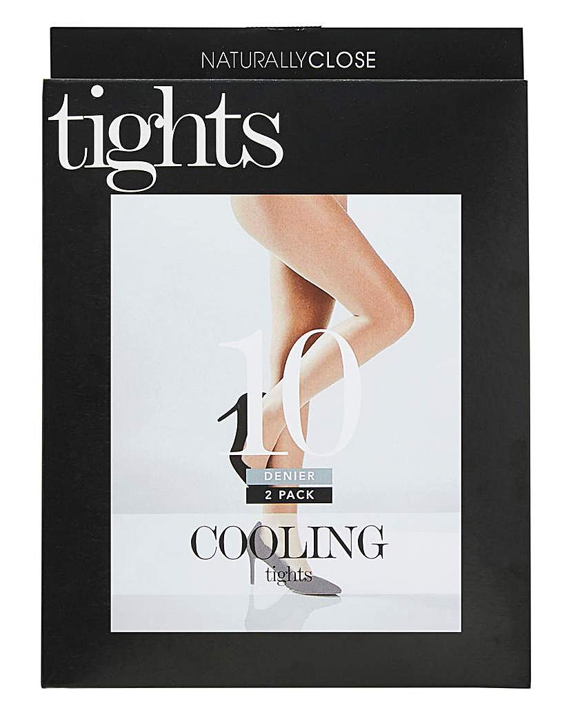 2 Pack 10 Natural Denier Cooling Tights