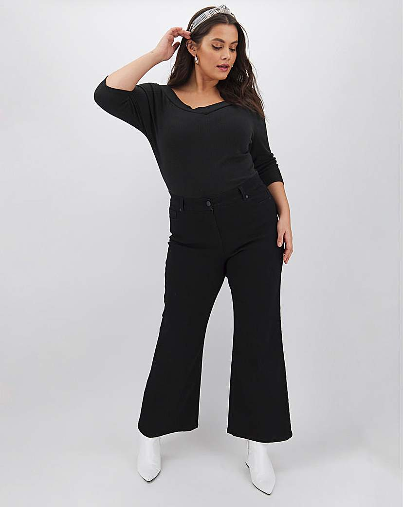 Capsule 24/7 Black Wide Leg Jeans Long