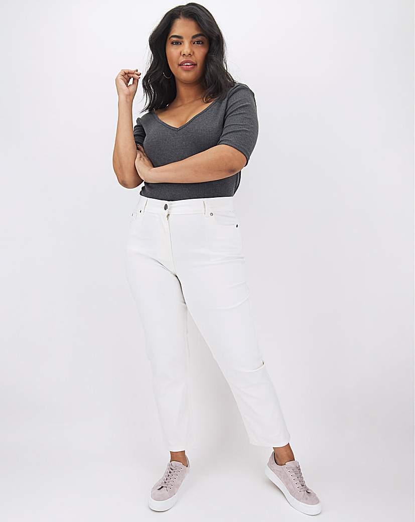 Capsule 24/7 White Straight Leg Jeans
