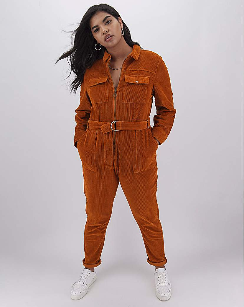Simply Be Stretch Cord Boilersuit